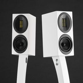 Scansonic M10 Bookshelf Speakers White Pair