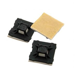 100 Pack Self Adhesive Cable Tie Mounts 2.5mm x 12.7mm SAMB12.7
