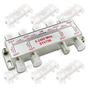 10 Pack Avico 8-Way F-Type TV Antenna Satellite Splitter 5-2400MHz STV758x10