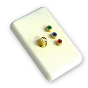 Neotech Origin Component Video RCA & S-Video SVHS Wall Plate White NWP143