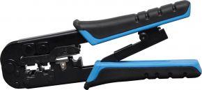 Modular Wire Stripper Cutter Crimper Ratchet Tool for RJ45 Ethernet RJ11 Phone T1565B