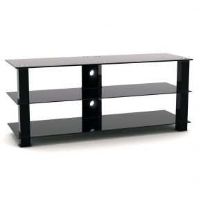 3 Shelf TV Stand 1200mm Wide Black SA4004L