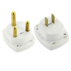 Travel Adaptors Pair for USA Canada Mexico Japan India South Africa TA503 & TA504