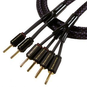 Tributaries Series 6 Bi-Wire 2x4 Speaker Cable with Banana Plugs