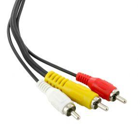 3m Avico 3RCA Composite + Stereo Audio AV Video Cable Lead VC4L