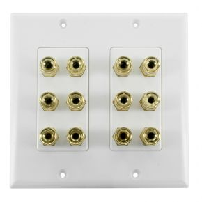 6.0 Speaker Wall Plate 2-Gang for Six Surround Sound Speakers WP6S