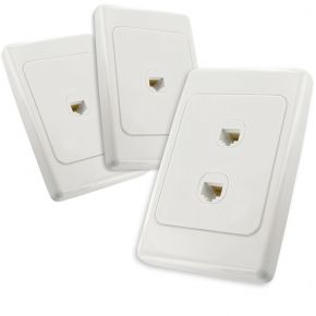 2-Port CAT6 Network Cable Wall Plates Bundle