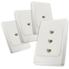 3-Port CAT6 Network Cable Wall Plates Bundle