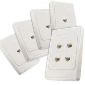 4-Port CAT6 Network Cable Wall Plates Bundle