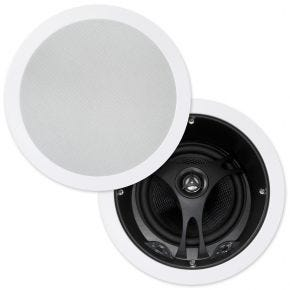 "Selby 6.5"" Glass Fibre Cone Angled In Ceiling Speakers Pair XD6205B.x2"
