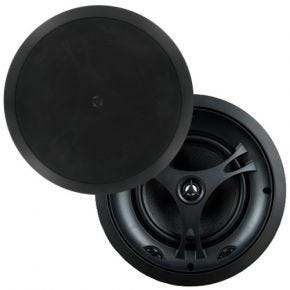 "Selby 8"" Glass Fibre Cone In Ceiling Centre Speakers Pair Black Frame XD8215BB.x2"