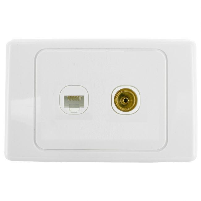 2 Speaker HDMI and Antenna PAL Custom wall plate