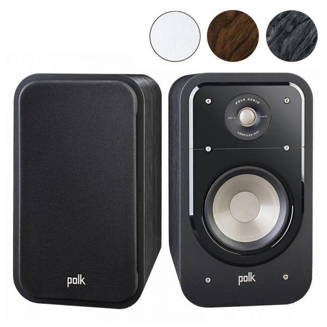 Classic Brown Walnut Pair Polk Audio Signature Series S20 American Hi-Fi Home Theater Large Bookshelf Speakers