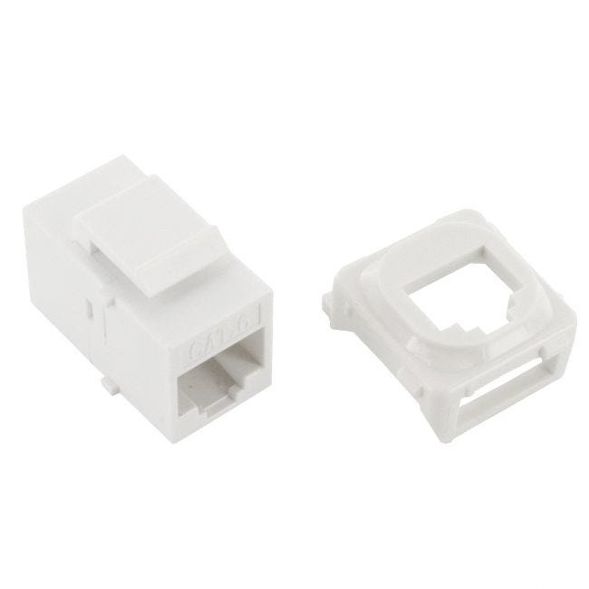 1 Port Network Cable Wall Plate Cat6 Lan Rj45 8p8c Plug To Plug Wpcj1 Selby