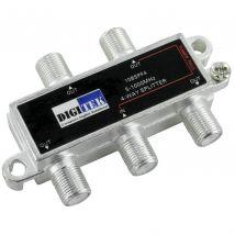 Digitek 4-Way F-Type TV Antenna Aerial Splitter 5-1000MHz 10BSPF4