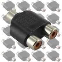 20x RCA Double Adaptors 1F-2F Y1921.20pk