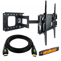 "37-60"" LED/Plasma/LCD TV Slim Wall Mount Pivot Bracket with 5m HDMI cable"