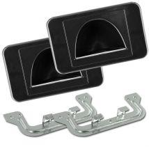2 Pack Reverse Bull Nose Wall Plates (Black) BULLRPRBK