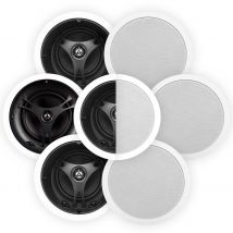 """Selby 6.5"""" Glass Fibre In-Ceiling 7-Speaker Surround Pack"""