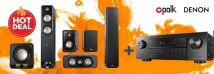 Polk S55 Pack + Denon AVR-S650H