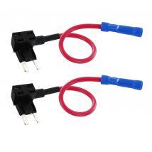 2x 12V Add-A-Circuit Car Fuse Taps for Mini APM/ATM Automotive Fuses FTM002