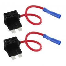 2x 12V Add-A-Circuit Car Fuse Taps for APR/ATC/ATO Automotive Fuses FTR002