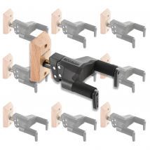 10 x Hercules Guitar Wall Hangers With Auto Lock & Wood Base GSP38WB GSP38WBx1