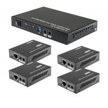 Pro.2 4-Way HDMI Over UTP Cat5e Cat6 Splitter Transmitter & Receiver Bundle