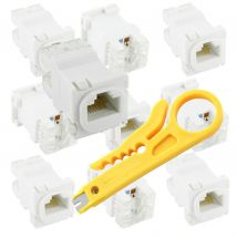 Punch Down Tool + 10 CAT6 Network Connectors
