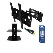 Deluxe 32-60inch TV Wall Mount Bracket Pack (Corner Mount) for LCD Plasma PCK402