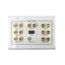 7.1 Speaker Cable HDMI Wall Plate WP3G714