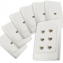 6-Port CAT6 Network Cable Wall Plates Bundle