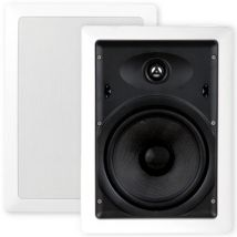 "Selby 8"" Glass Fibre Cone In Wall Speakers Pair XQ8205B.x2"