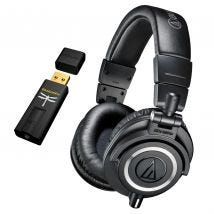 Audio-Technica ATH-M50X & DragonFly Black USB DAC Preamp Headphone Amplifier BUN900601