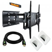37-60in Slimline Bracket, Pivot Tilt + 4m HDMI Cable + 2x Bullnose Wall Plates