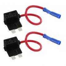 2x 12V Add-A-Circuit Car Fuse Taps for APR/ATC/ATO Automotive Fuses FTR002