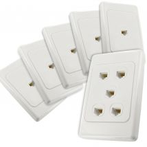 5-Port CAT6 Network Cable Wall Plates Bundle