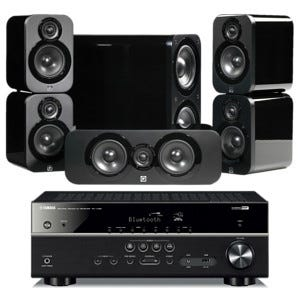 Q acoustics 3010 rx v385 selby for Yamaha home theatre customer care number