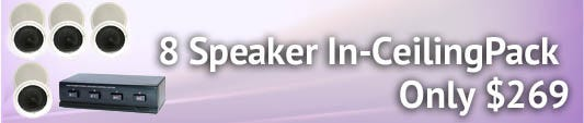 8 speaker In-Ceiling Pack